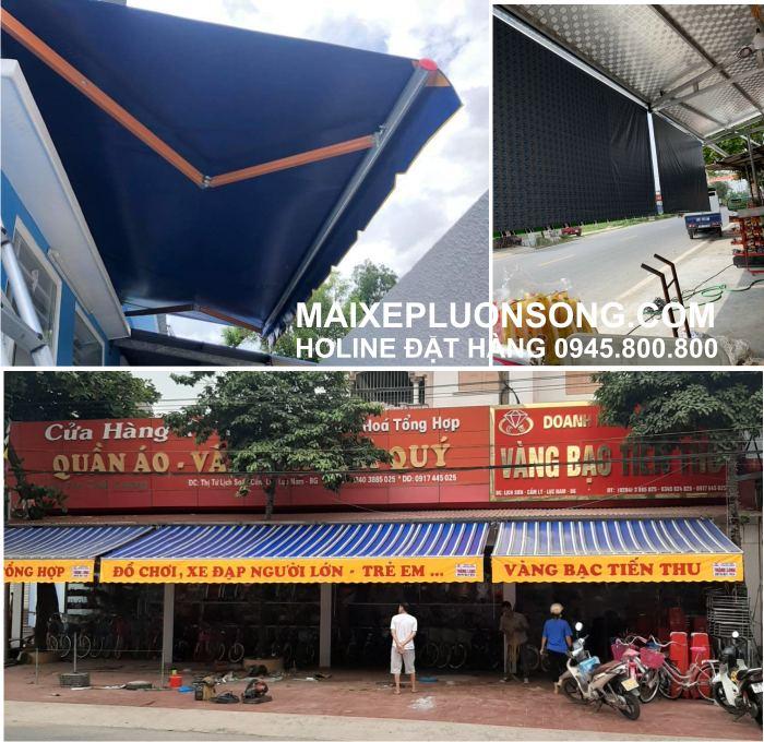 Lắp đặt mái hiên,mái che,mái xếp di động mua bán ô dù bạt che nắng mưa tại Hải Phòng
