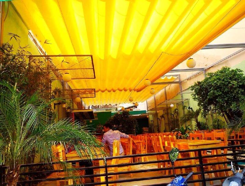 Thi công lắp đặt mái hiên-mái che-mái bạt kéo xếp di động thông minh ô dù bạt che nắng mưa tại Hà Nội