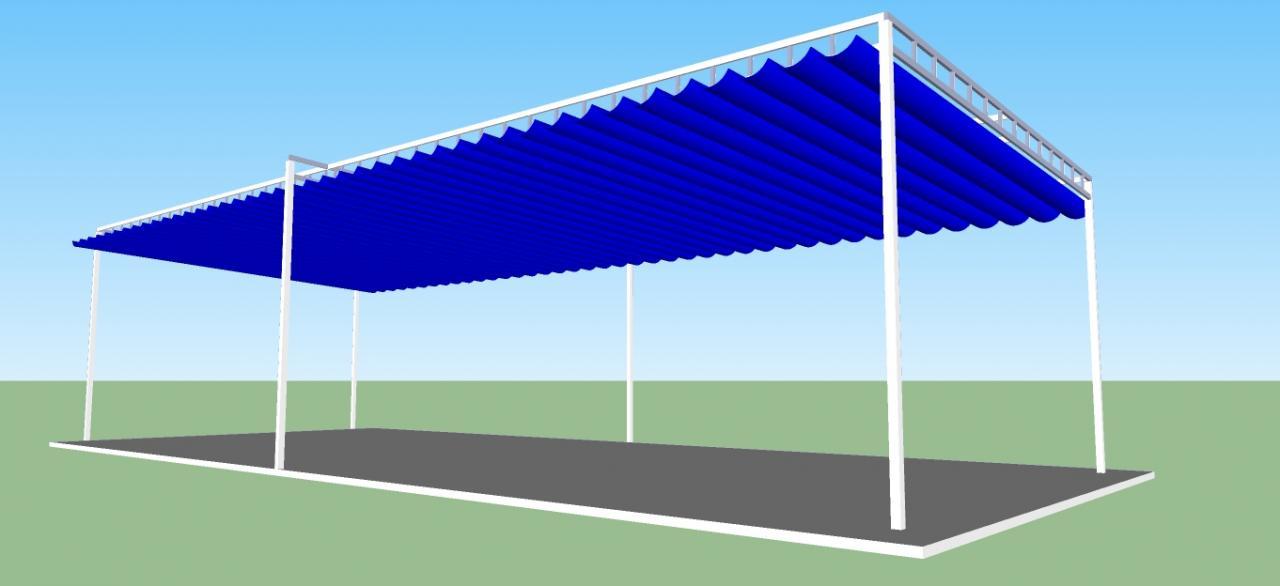 Cách làm mái xếp bạt kéo bằng hướng dẫn 3D